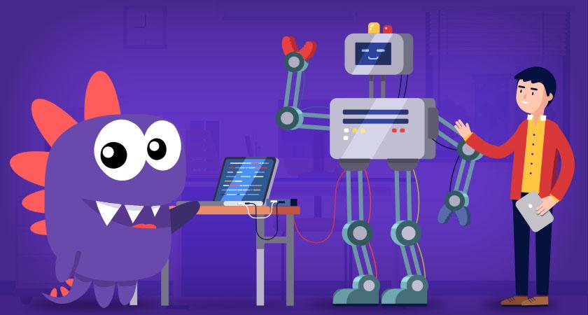 Drago programando e ensinando como programar