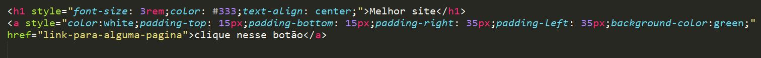 Adicionando css no html com parâmetro Style