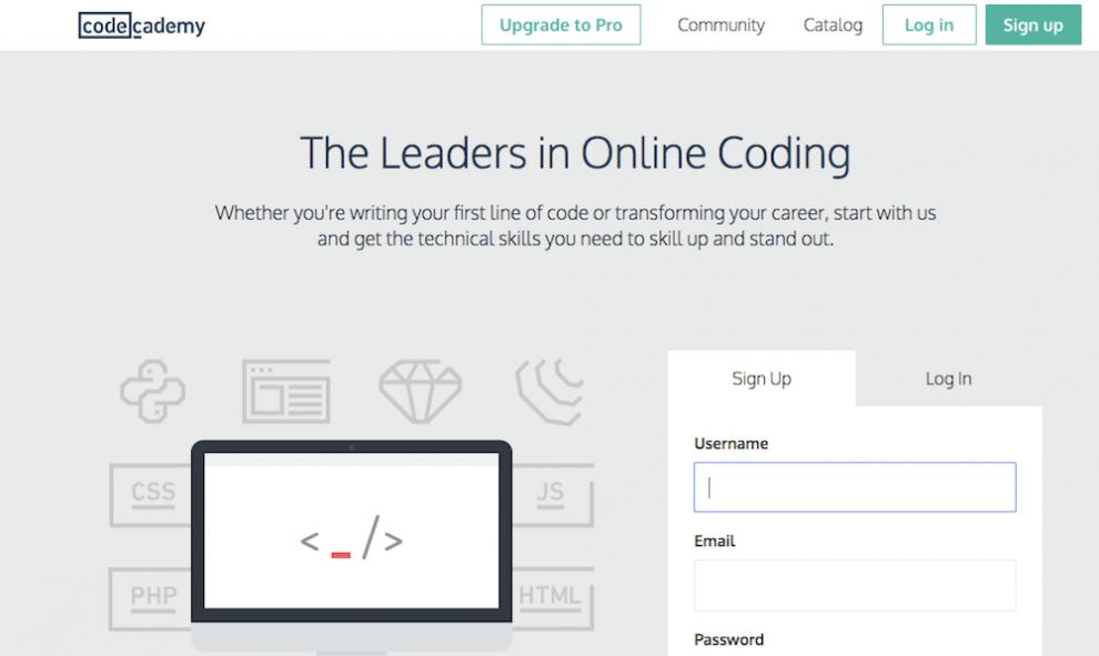 curso do code academy para aprender como programar