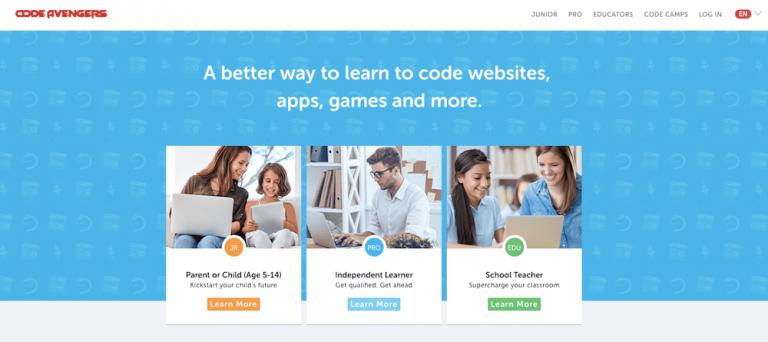 você pode aprender como programar de graça no site code avengers