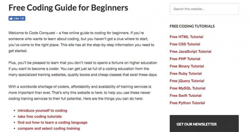 aprenda como programar com a plataforma code conquest