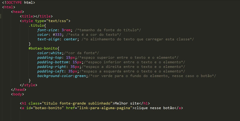Como adicionar CSS no HTML sem a tag link