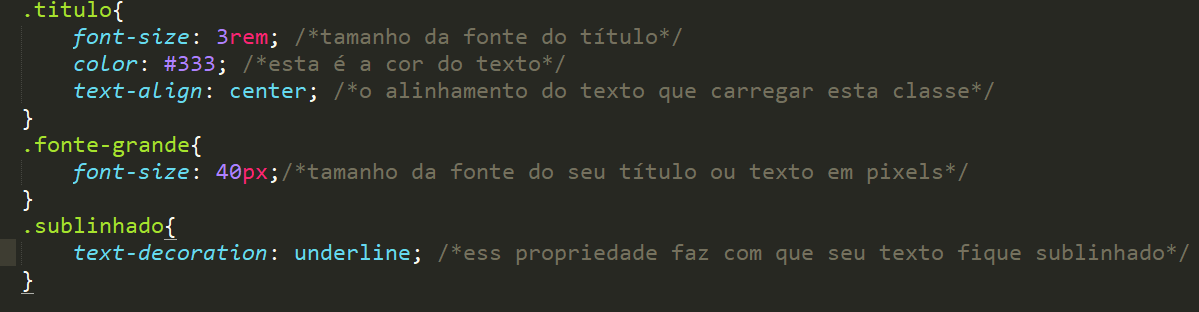 Criando diversas classes no html