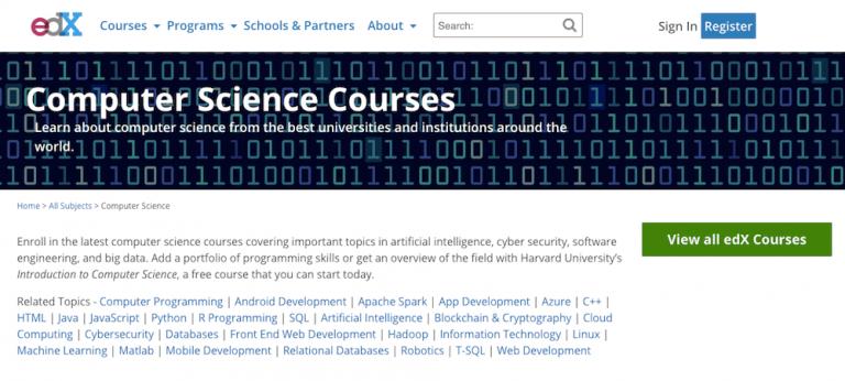 aprenda como programar com o site edx