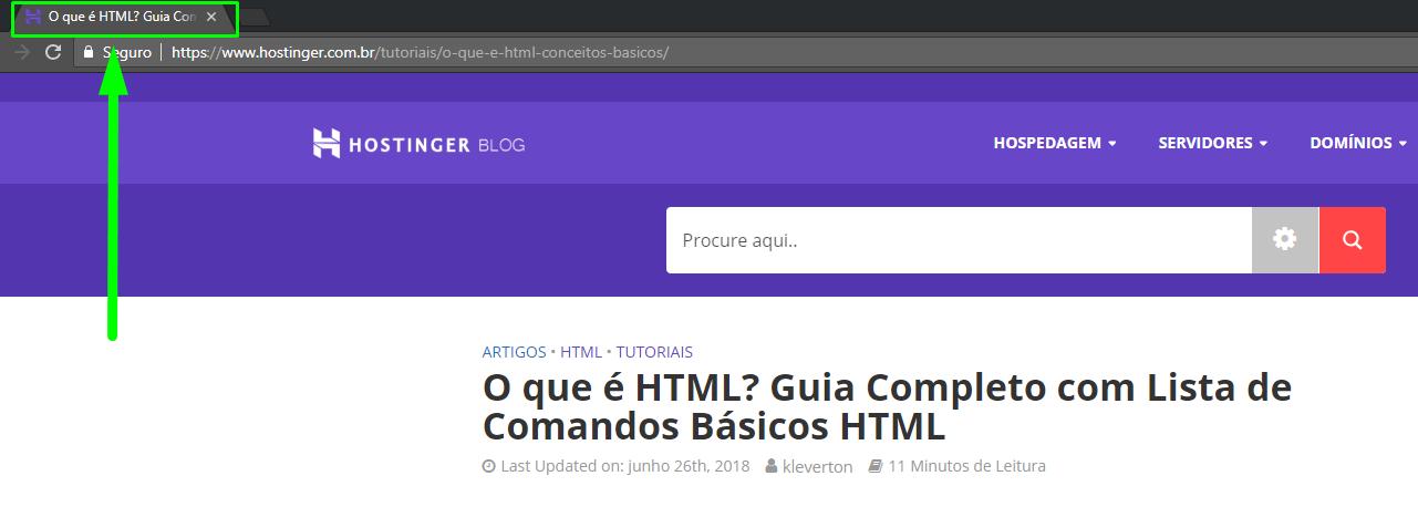 Exemplo do head no html
