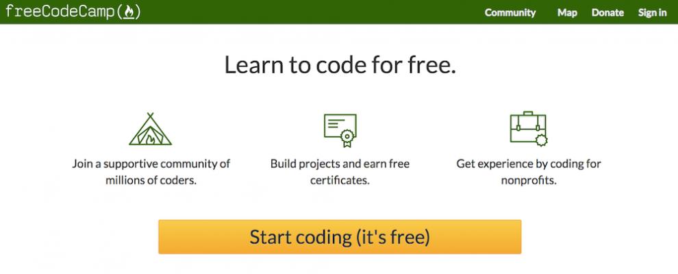 curso free code camp para aprender a como programar de graça