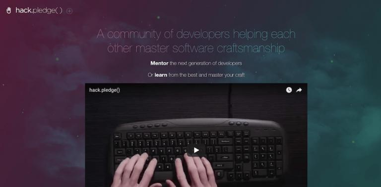 o hack pledge tem uma ótima comunidade para aprender como programar