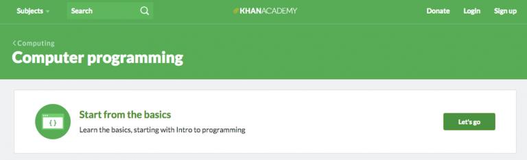 saiba como programar com o site khan academy
