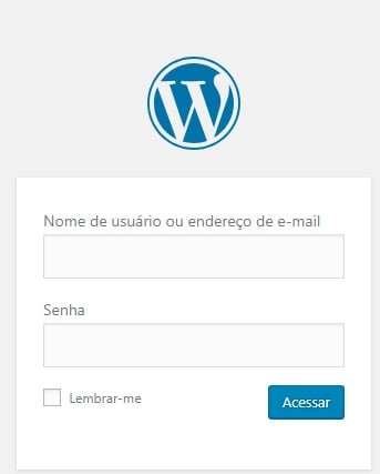 pagina de login no wordpress