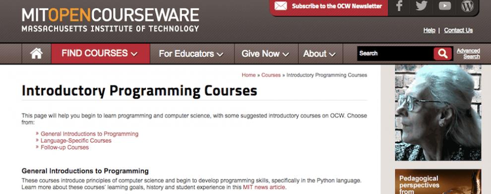 curso do MIT Open Courseware para aprender como programar