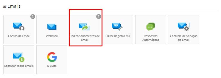 como fazer redirecionamento de email