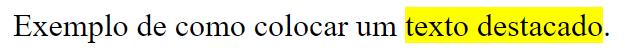 como destacar texto em html