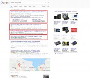 """Pesquisa no Google pelo termo """"comprar placa de video"""""""