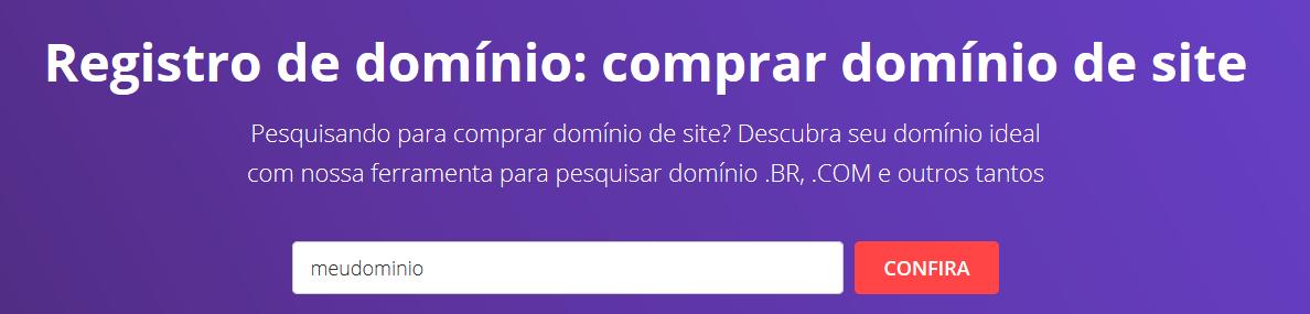 registrar domínio para criar email