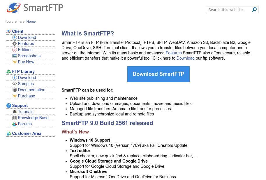 O SmartFTP é uma excelente alternativa ao FileZilla como cliente FTP