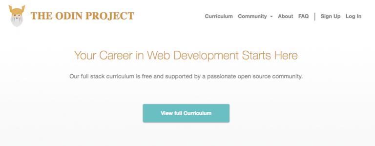 curso online odin project para saber como programar