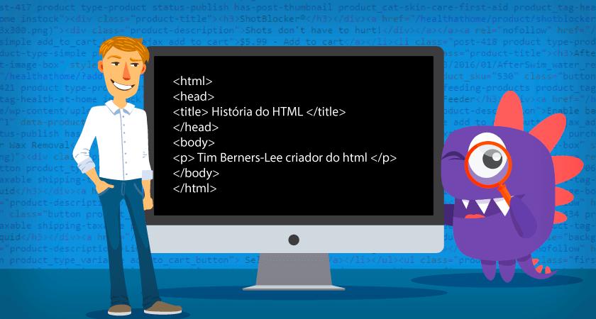 o que é html - história