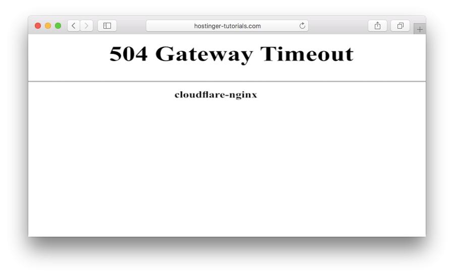 erro no site - erro 504