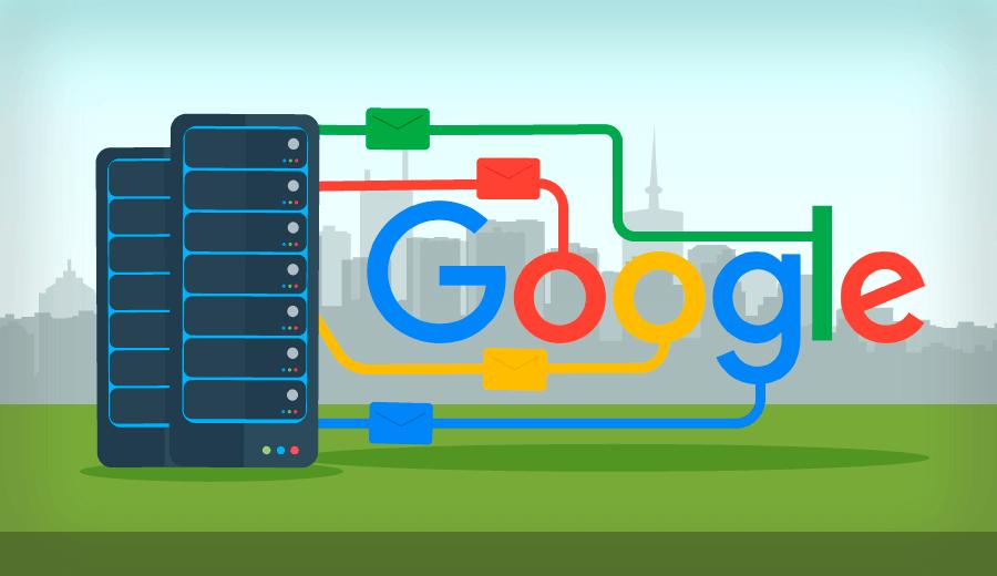 Como usar o servidor Google para emails