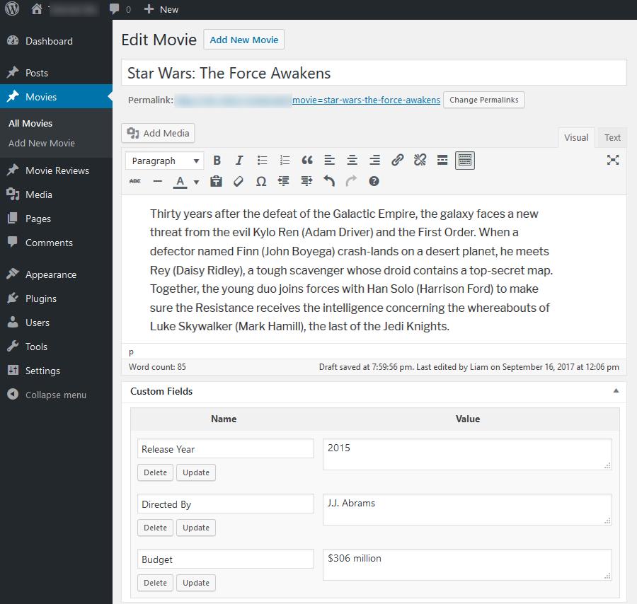 Campos personalizados WordPress