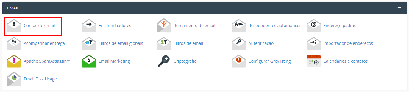 interface de email do cpanel