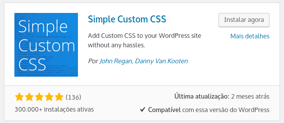 plugin to use custom css