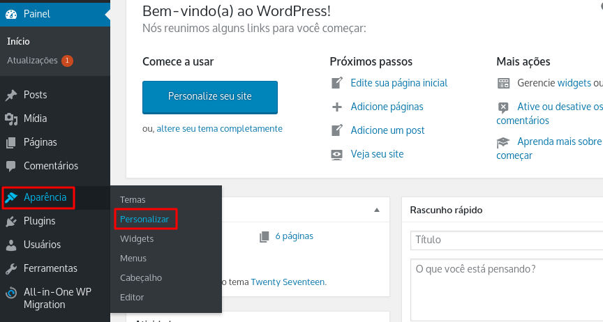 how to get to customizer themes to add custom css in wordpress