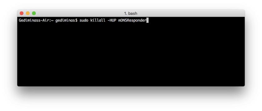 Limpar cache DNS MAC OS x El Capitan