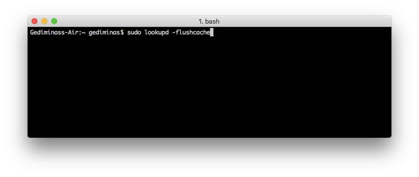 Flush DNS MAC OS x Leopard