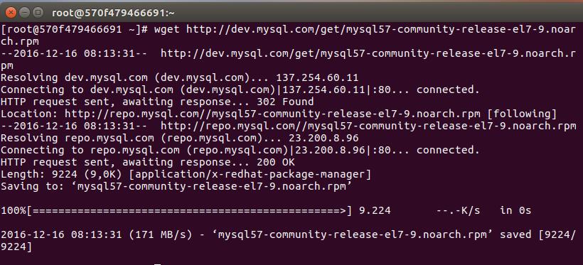 Instalar MySQL CentOS 7