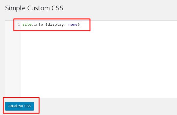 inserir código de css personalizado no wordpress