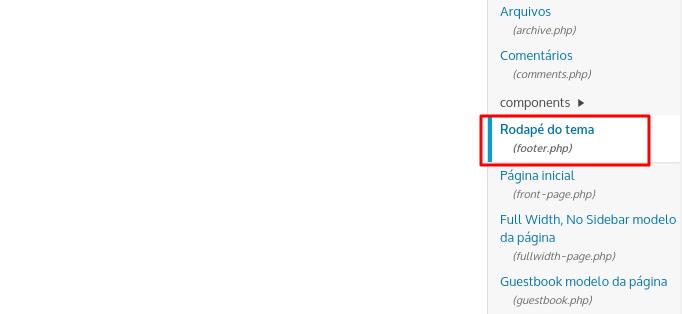 usando php para remover orgulhosamente desenvolvido com wordpress do rodapé do tema seu blog