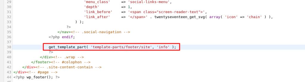 retirando código php para tirar orgulhosamente desenvolvido com wordpress do rodapé do seu blog