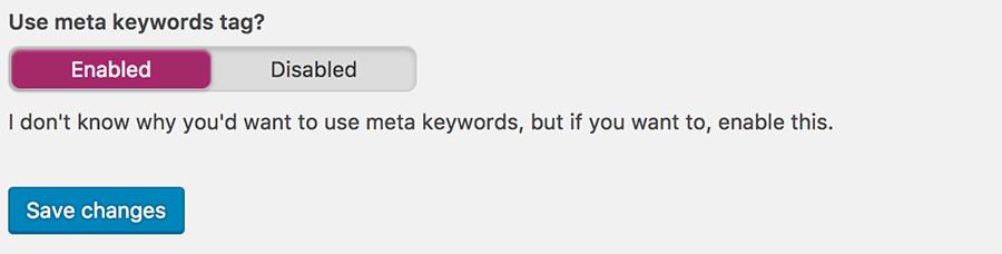Yoast SEO Meta keyword