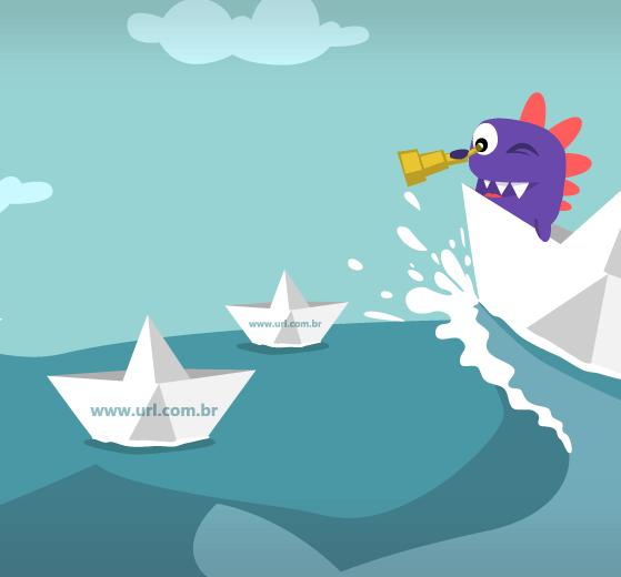 drago navegando em busca de novas urls para mudar url wordpress