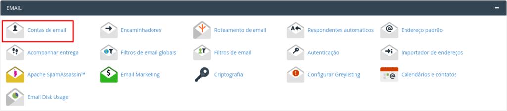 como adicionar email no painel de controle do cpanel
