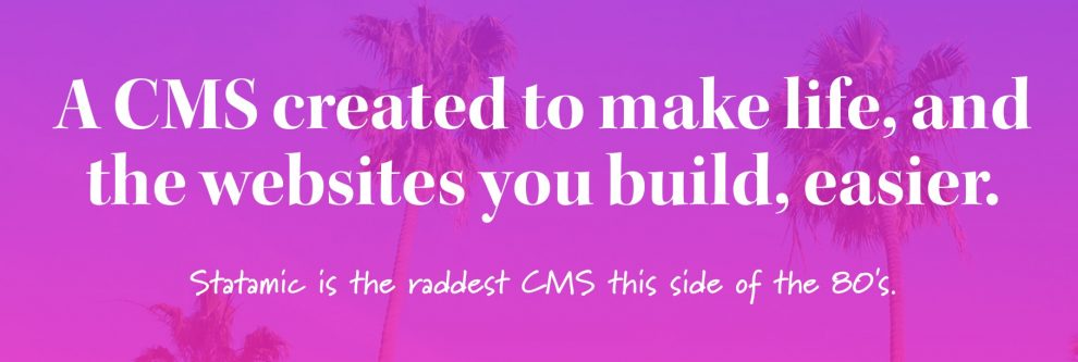 cms Statamic to use beyond WordPress