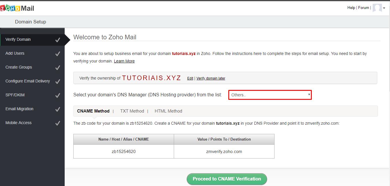 Como configurar zoho mail para enviar e receber emails verificando dominio no zoho stopboris Gallery