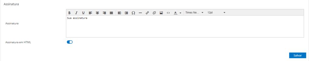 exemplo de assinatura de email usando HTML