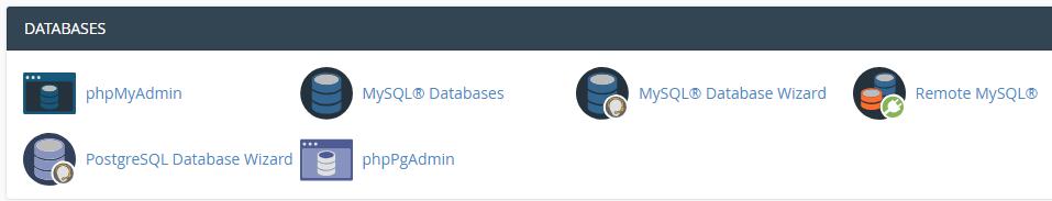 banco de dados pelo phpmyadmin