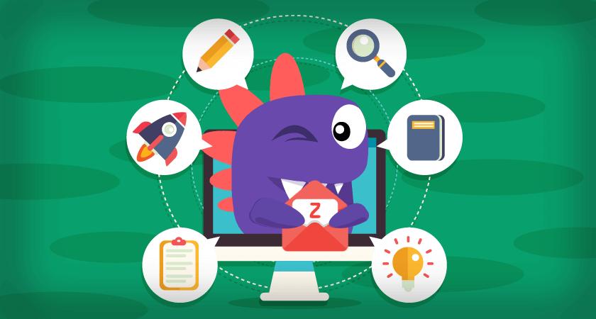Como criar email zoho