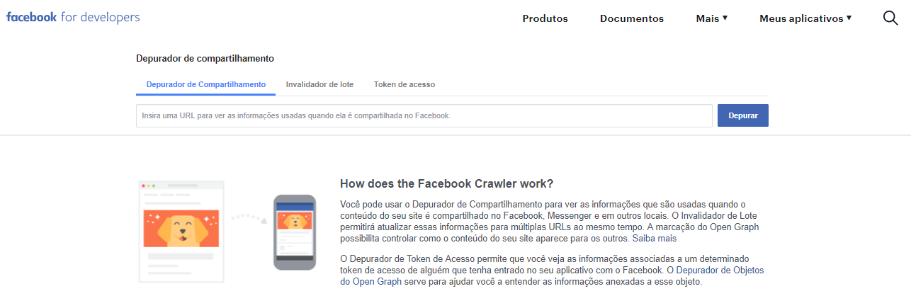 Como usar o facebook developer