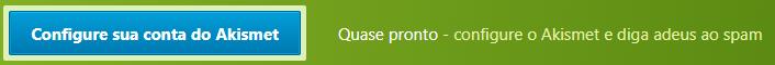 Configurar conta usando Akismet