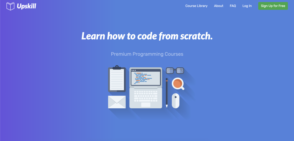plataforma Upskill com cursos sobre como programar