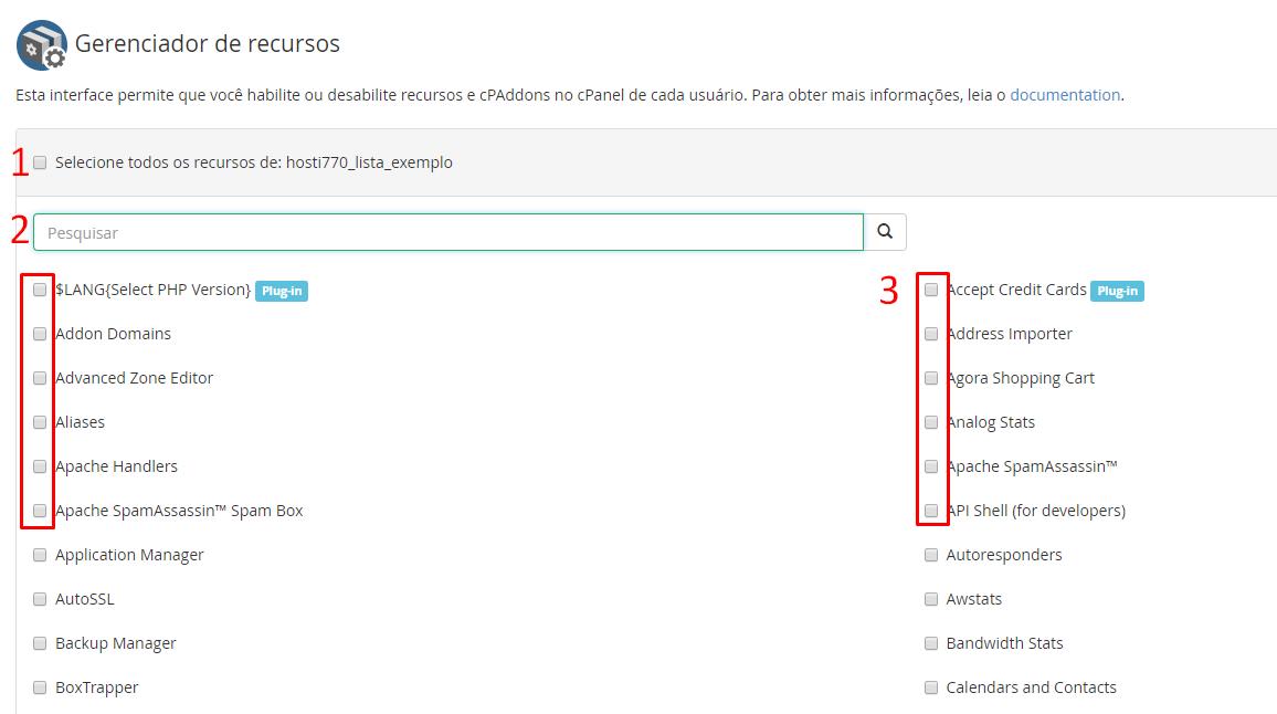 aprenda a criar e gerenciar listas de recursos no painel whm