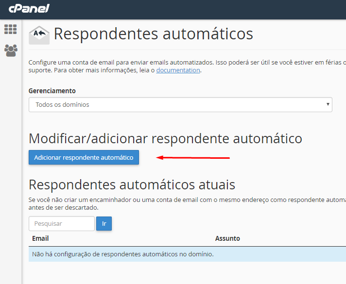 button to add automatic responder to create an autoresponder email receipt