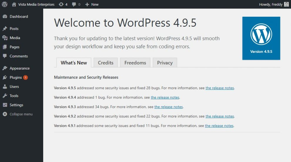 wordpress-welcome-update