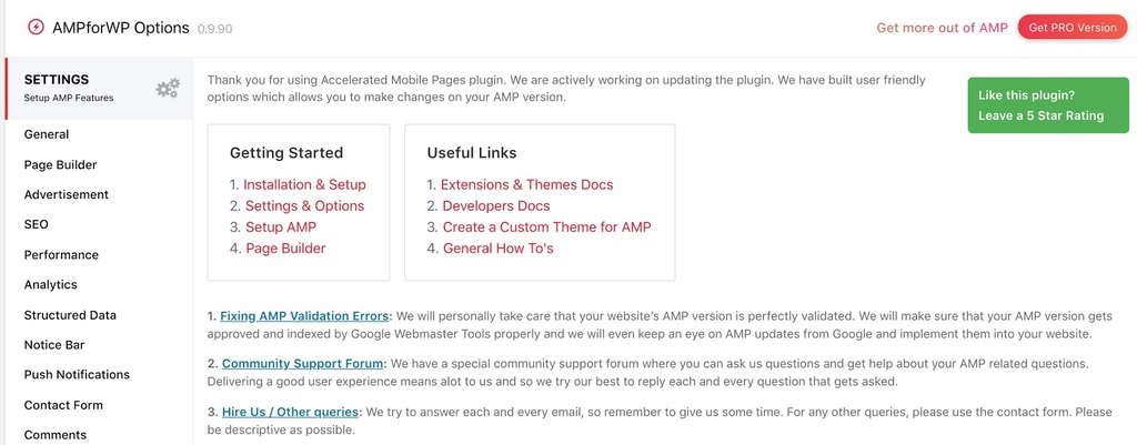 configurando o plugin amp for wordpress
