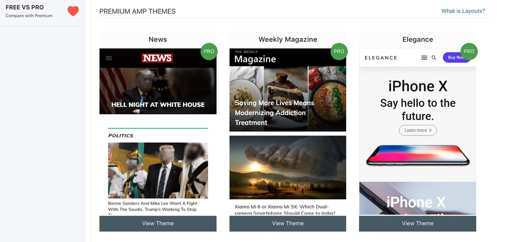 premium themes wordpress plugin amp