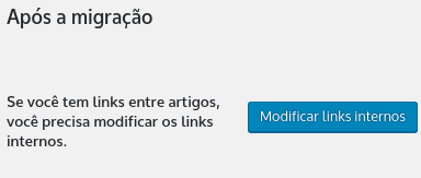 modificando links internos